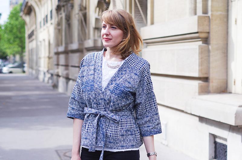 Kimono bleu Kit by Klo julie