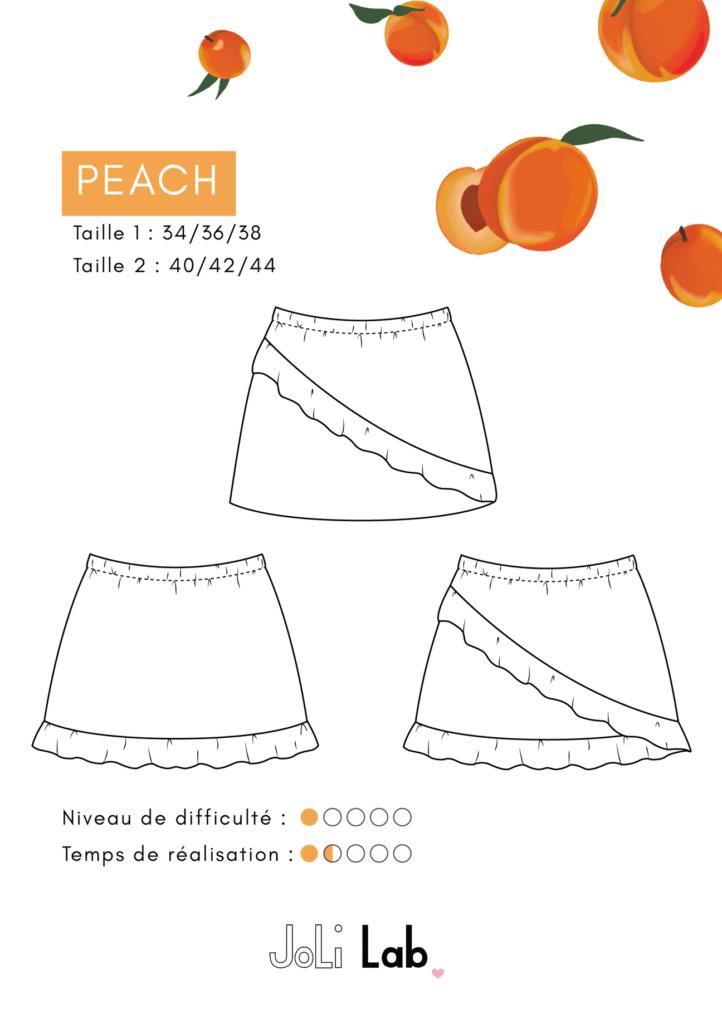 JOLI LAB - Jupe Peach